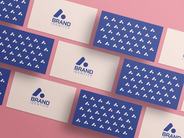 Maquete de cartão de visita de marca