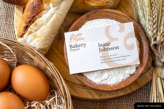 Maquete de cartão de visita de padaria
