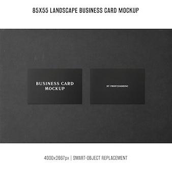 Maquete de cartão de visita de paisagem