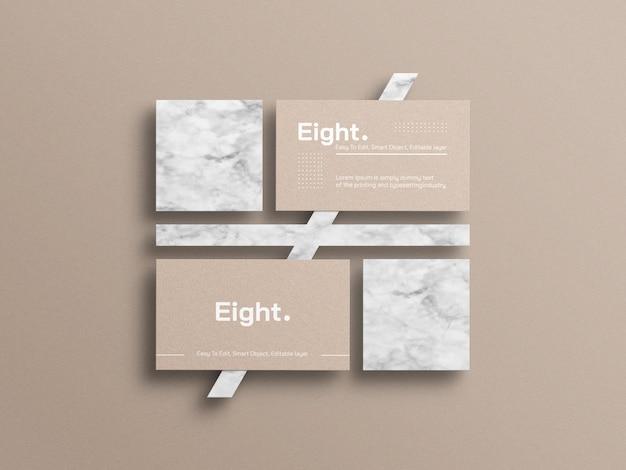 Maquete de cartão de visita de papel kraft