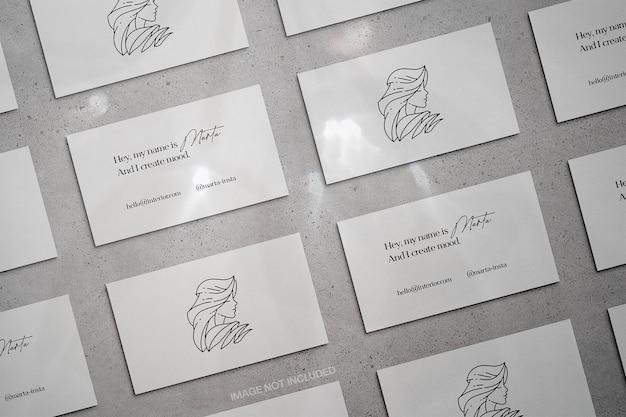 Maquete de cartão de visita de papelaria sombra