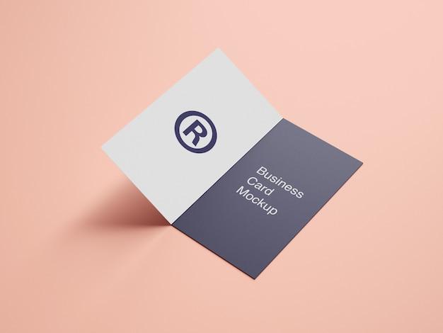 Maquete de cartão de visita de pasta