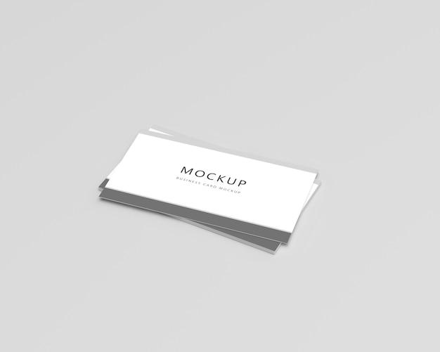 Maquete de cartão de visita de perspectiva