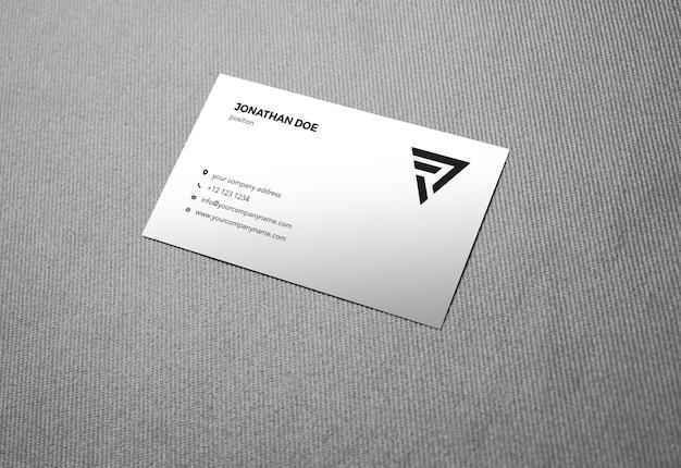 Maquete de cartão de visita de tecido de linho