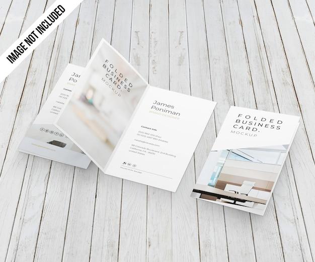 Maquete de cartão de visita dobrado