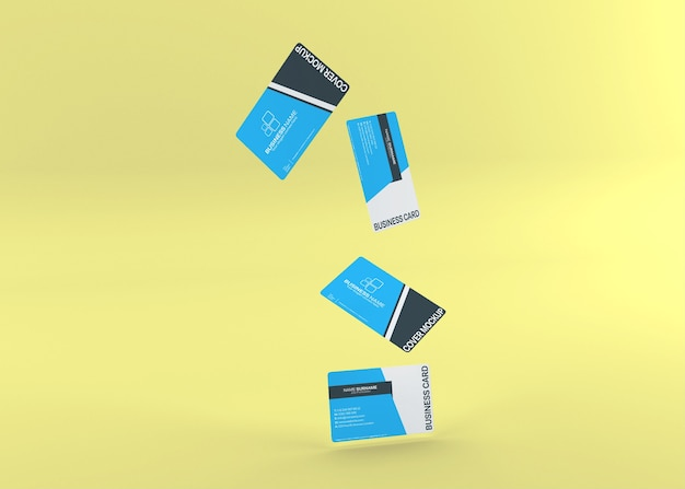 Maquete de cartão de visita dupla face moderna