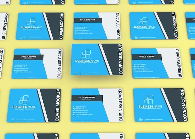 Maquete de cartão de visita dupla face moderna Psd Premium