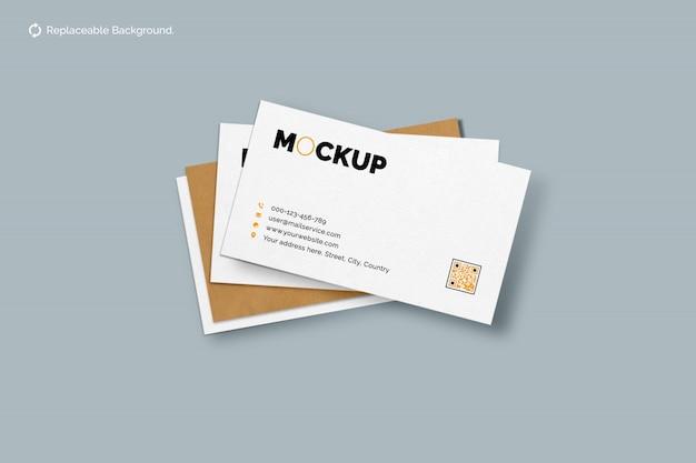 Maquete de cartão de visita dupla face