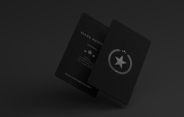 Maquete de cartão de visita elegante e luxuoso em um fundo cinza, templatepsd.
