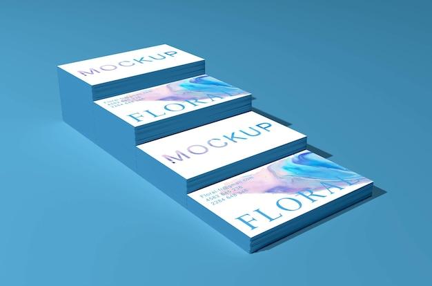 Maquete de cartão de visita elegante e moderna