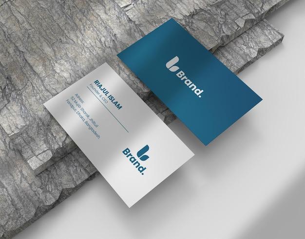 Maquete de cartão de visita elegante e moderno
