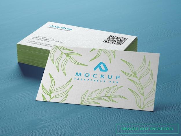 Maquete de cartão de visita elegante e realista