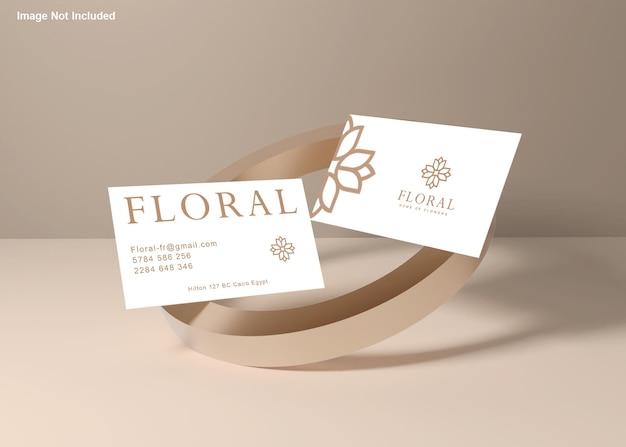 Maquete de cartão de visita elegante