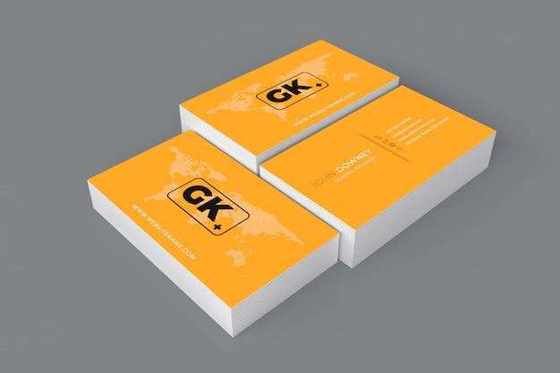 Maquete de cartão de visita em branco. renderização em 3d