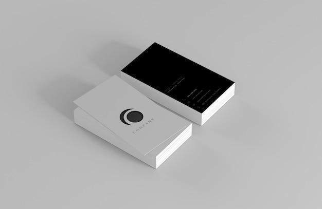 Maquete de cartão de visita em branco