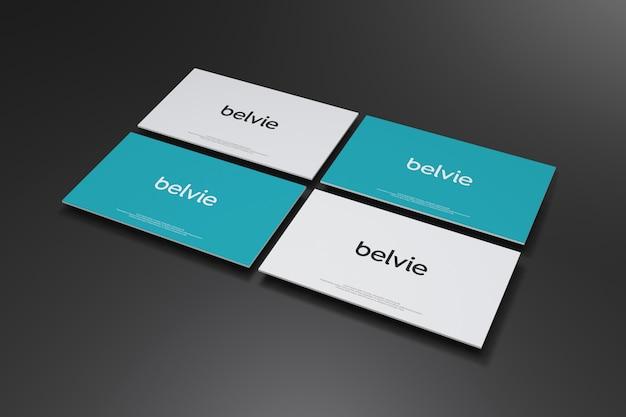 Maquete de cartão de visita em fundo preto
