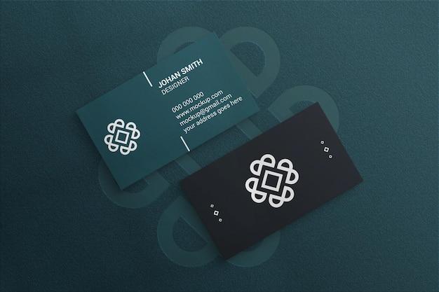 Maquete de cartão de visita em papel texturizado