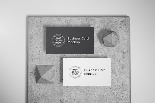 Maquete de cartão de visita em pedra
