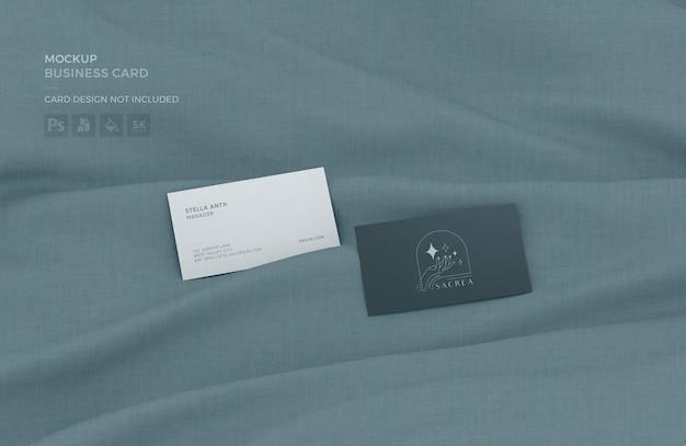 Maquete de cartão de visita em tecido
