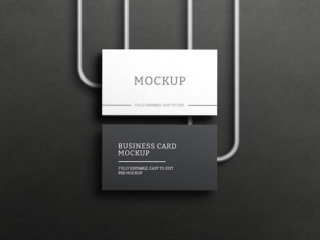 Maquete de cartão de visita escuro