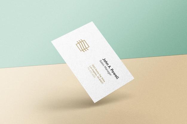 Maquete de cartão de visita flutuante