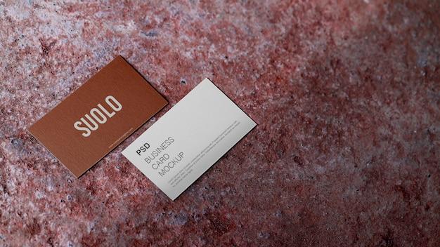 Maquete de cartão de visita frente e verso elegante e mínimo