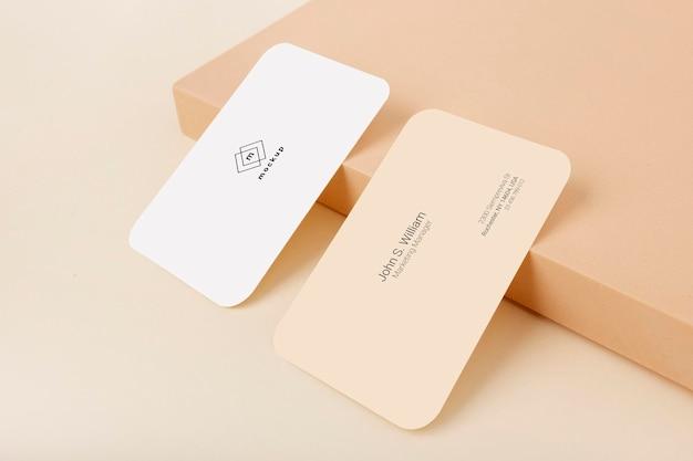 Maquete de cartão de visita, frente e verso
