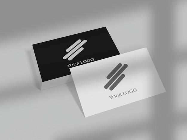 Maquete de cartão de visita frente e verso