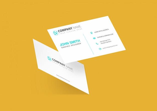 Maquete de cartão de visita frontal e traseira