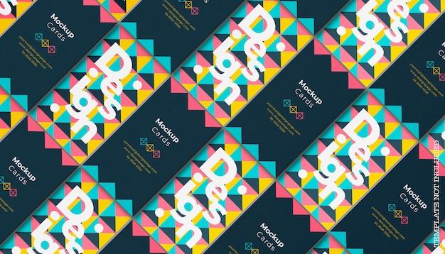 Maquete de cartão de visita geométrico