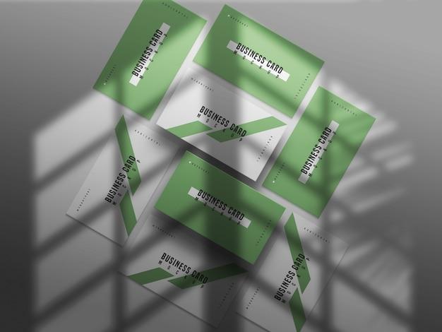 Maquete de cartão de visita horizontal e vertical, vista frontal e traseira
