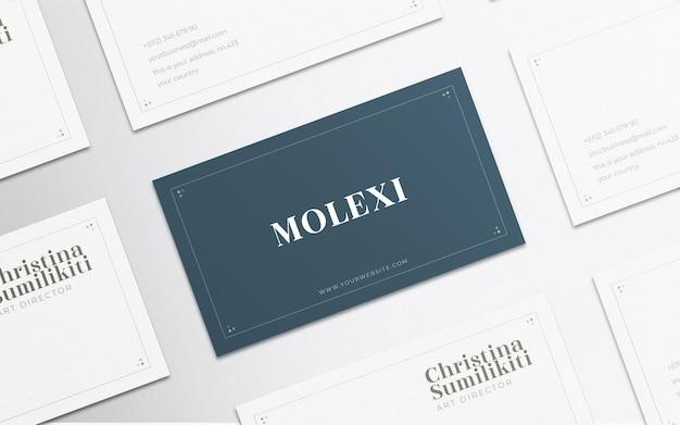 Maquete de cartão de visita horizontal múltiplo elegante e minimalista