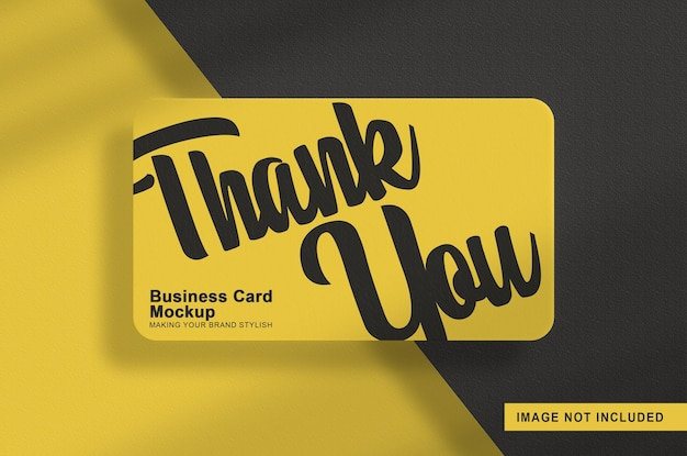 Maquete de cartão de visita isolada