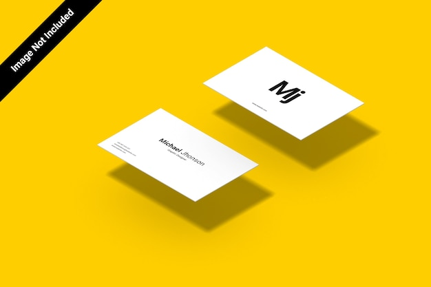 Maquete de cartão de visita isomático em paisagem