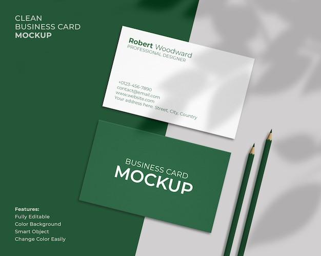 Maquete de cartão de visita limpa e moderna