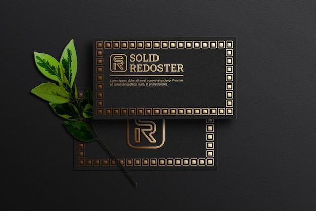 Maquete de cartão de visita luxuoso
