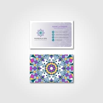 Maquete de cartão de visita mandala