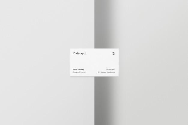 Maquete de cartão de visita meia mesa