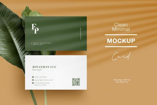 Maquete de cartão de visita mínima limpa