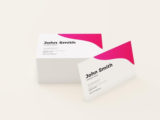 Maquete de cartão de visita mínima moderna