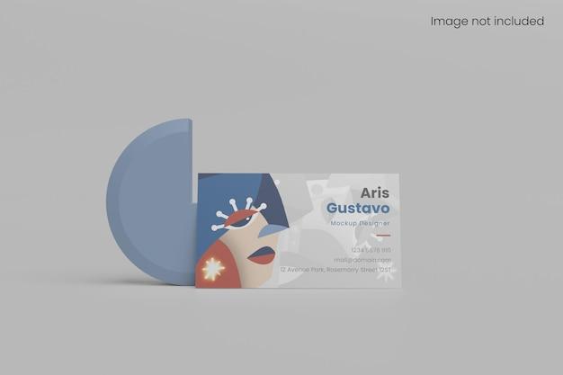 Maquete de cartão de visita minimalista de vista frontal