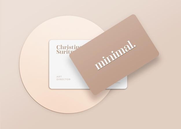 Maquete de cartão de visita minimalista e moderna