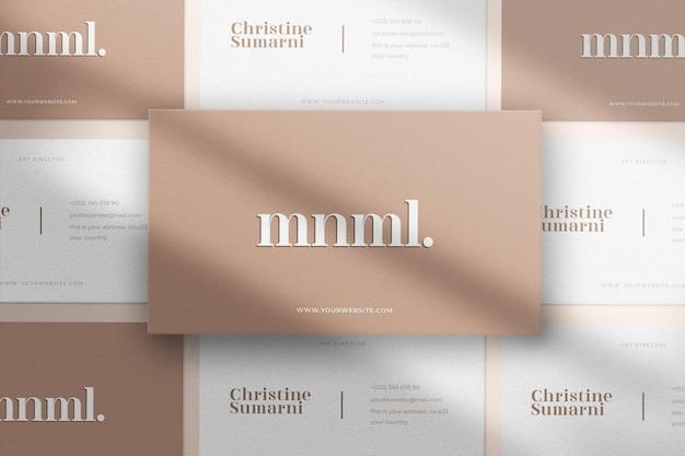 Maquete de cartão de visita minimalista e moderno padrão sem emenda