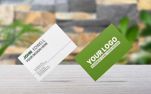 Maquete de cartão de visita mínimo frente e verso