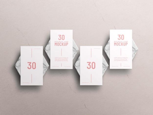 Maquete de cartão de visita mínimo Psd grátis
