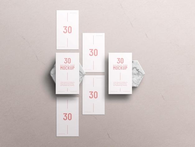 Maquete de cartão de visita mínimo