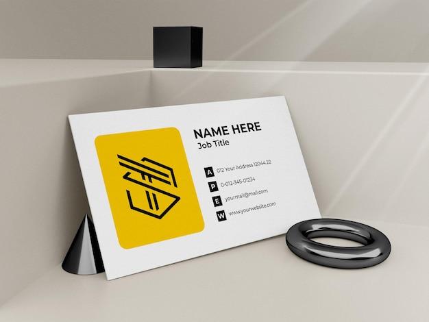 Maquete de cartão de visita moderno 3d render premium psd