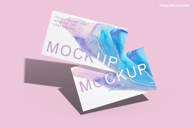 Maquete de cartão de visita moderno e colorido