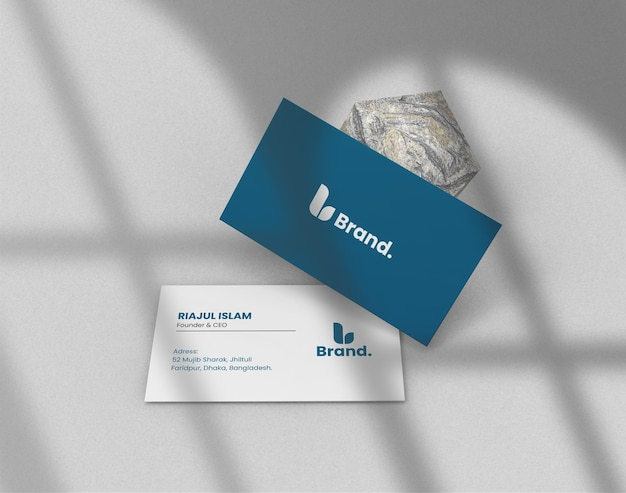 Maquete de cartão de visita moderno e elegante de amplificador