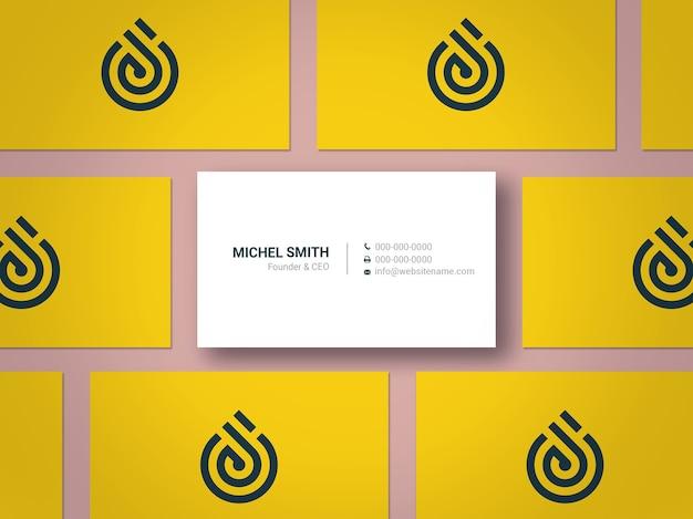 Maquete de cartão de visita moderno e elegante